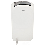 12,000 BTU Dual-Exhaust Portable Air Conditioner with Remote Control in White - WHAP122AW