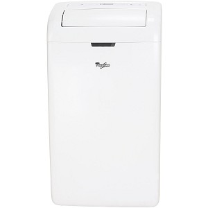 14,000 BTU Dual-Exhaust Portable Air Conditioner with Remote Control in White - WHAP142AW