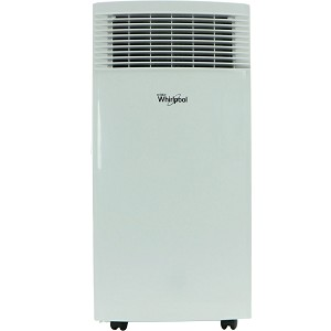 8,000 BTU Single-Exhaust Portable Air Conditioner with Remote Control in White - WHAP081AW
